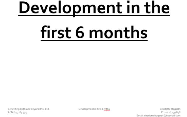 baby development
